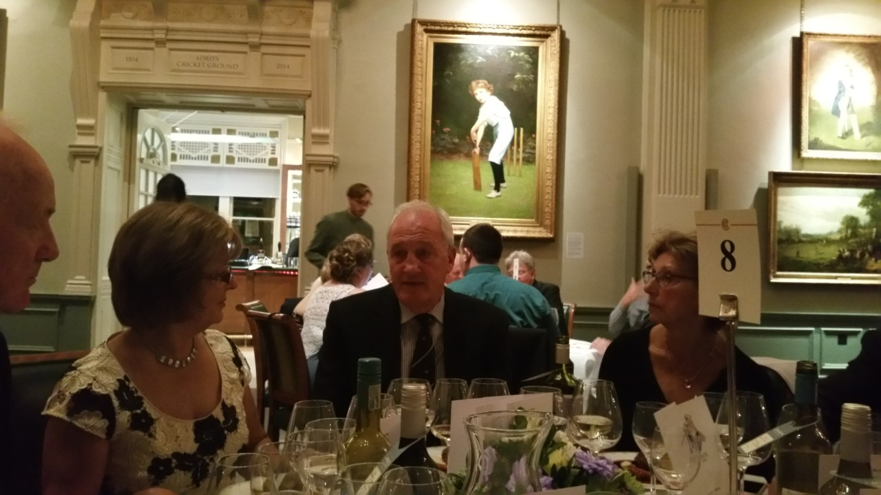 Shirley Parnell, John Emburey and Liz Shaw